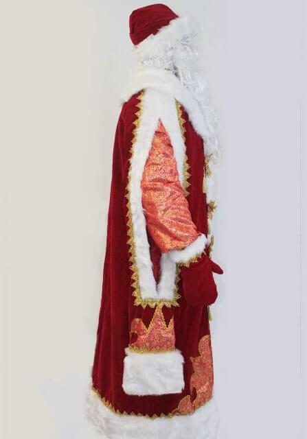 Костюм Деда Мороза в профиль