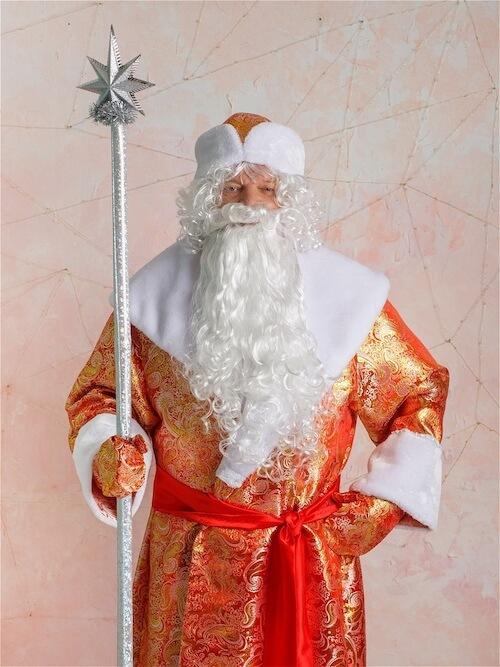 Костюм Деда Мороза золотой  в Крыму