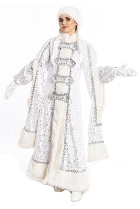 Боярский костюм Снегурочки белого цвета в Крыму