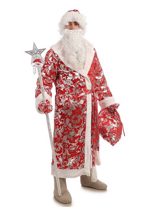 Костюм Деда Мороза блестящий в Крыму