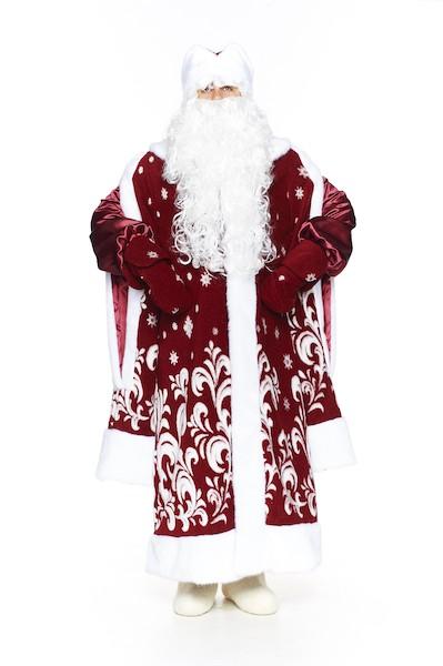 Бордовый новогодний костюм в Крыму