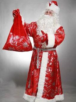 Костюм Деда Мороза с узорами в Крыму
