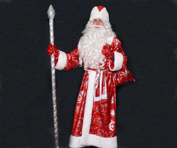 Недорогой костюм Дедушки Мороза с узорами в Крыму