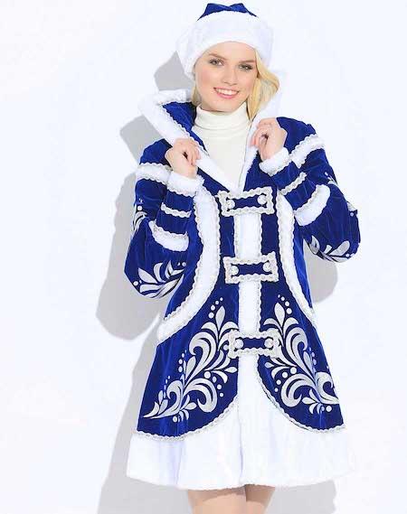 Купеческий костюм Снегурочки синего цвета в Крыму